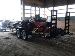 Gary's loaded trailer arrived in Loretto